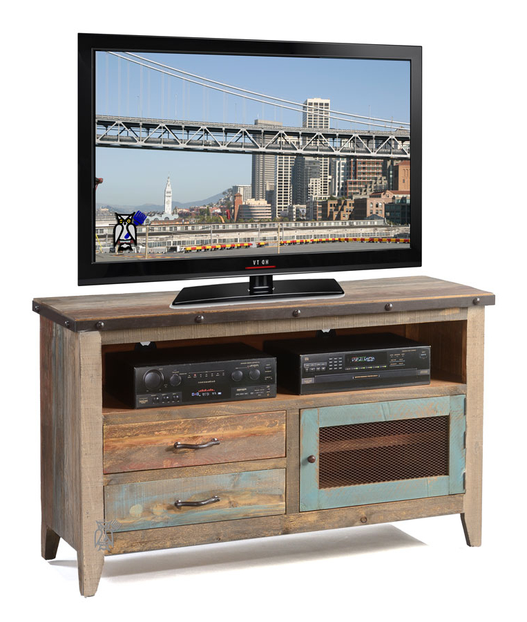 "Solid Pine Rustic 52"" Tv Stand Multi Colord (View 18 of 20)"