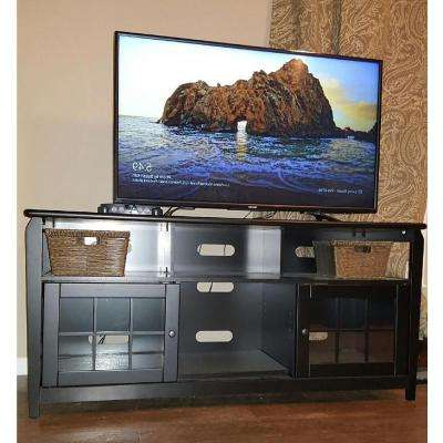 Solid Wood Black Tv Stands Throughout Famous Solid Wood – Black – Entertainment Center – Tv Stands – Living Room (View 4 of 20)