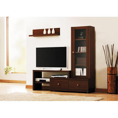 Solid Wood & Glass Vivan Enterprises Lcd Tv Stand, Tv Size: 32 50 Inside Fashionable Square Tv Stands (View 13 of 20)