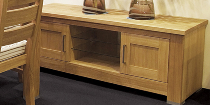 Solid Wood Tv Stands Intended For Trendy Wood Tv Stands With Glass Top (View 9 of 20)