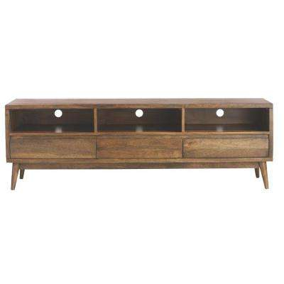 Solid Wood – Tv Stands – Living Room Furniture – The Home Depot Pertaining To Well Liked Hardwood Tv Stands (View 3 of 20)