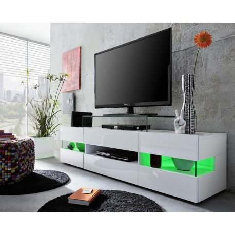 Sonic – Tv Stand With Optional Led Lights – Tv Stands (2278) – Sena Pertaining To Well Liked Tv Stands With Led Lights (View 3 of 20)