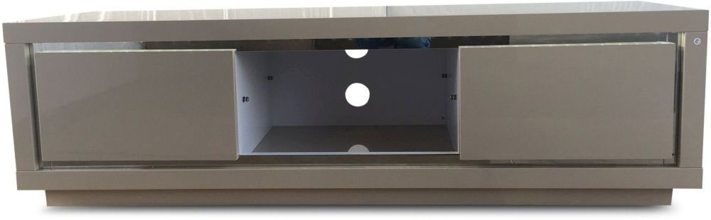 Sophie 2 Door Cream High Gloss Tv Unit With Led Pertaining To Fashionable Cream High Gloss Tv Cabinets (View 17 of 20)