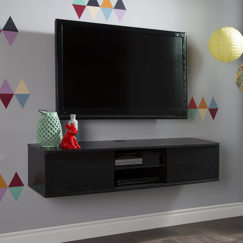 South Shore Agora Wall Mounted Media Console Tv Stand For Tvs Up To For Well Known Casey Umber 74 Inch Tv Stands (View 14 of 20)