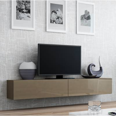 South Shore Agora Wall Mounted Media Console Tv Stand For Tvs Up To Inside Recent Casey Umber 74 Inch Tv Stands (View 17 of 20)