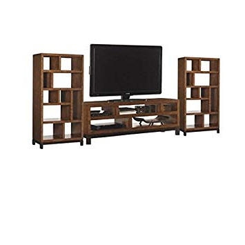 Square Tv Stands Inside Current Amazon: Home Square 3 Piece Entertainment Center Set Including (View 15 of 20)