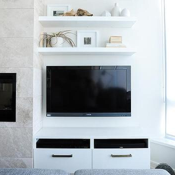Stacked Shelves Over Tv Design Ideas Throughout Favorite Over Tv Shelves (View 18 of 20)