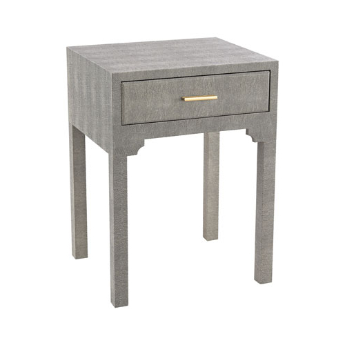 Sterling Industries Sands Point Grey Faux Shagreen Accent Table 3169 With Regard To Most Recent Faux Shagreen Console Tables (View 18 of 20)
