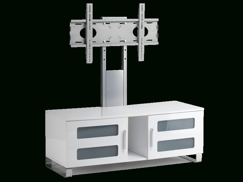 "Stil Stand High Gloss White Cantilever Tv Stand Up To 50"" Stuk2061 W With Preferred Stil Tv Stands (View 10 of 20)"
