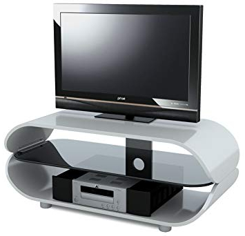 Stil Stand High Gloss White Oval Tv Stand: Amazon.co (View 9 of 20)