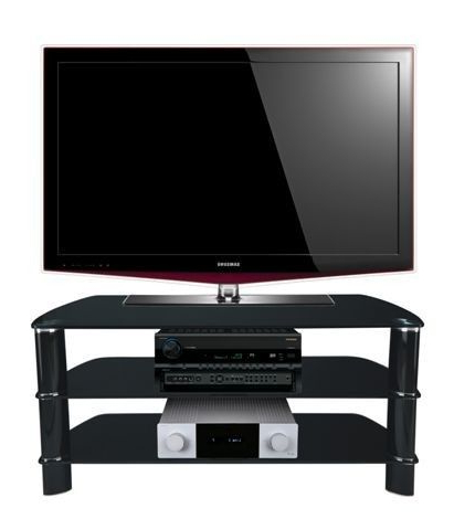 "Stil Tv Stands In Widely Used Stil Stand Black Glass Tv Stand Up To 50"" Stuk2005 Bb (View 12 of 20)"