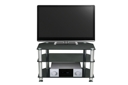 """Stil Tv Stands Intended For Newest Black Glass Tv Stand Up To 32"""" Stuk1401stil Stand (View 12 of 20)"""