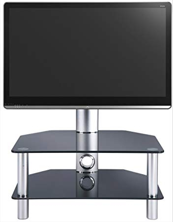 Stil Tv Stands Pertaining To Popular Stil Stand 2052Chbl Glass Tv Stand: Amazon.co (View 14 of 20)