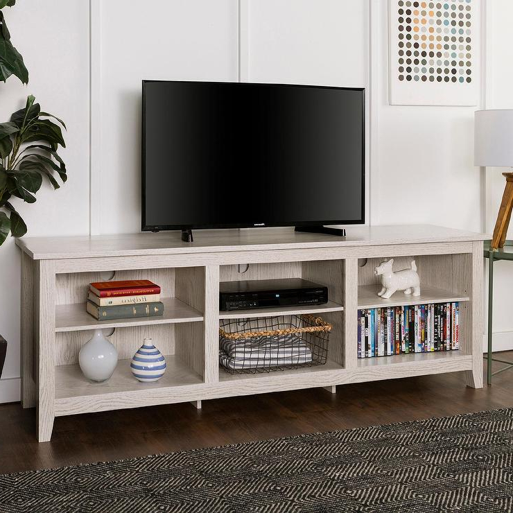 Storage Tv Stands For Most Current White Wood Open Storage Tv Stand (View 14 of 20)