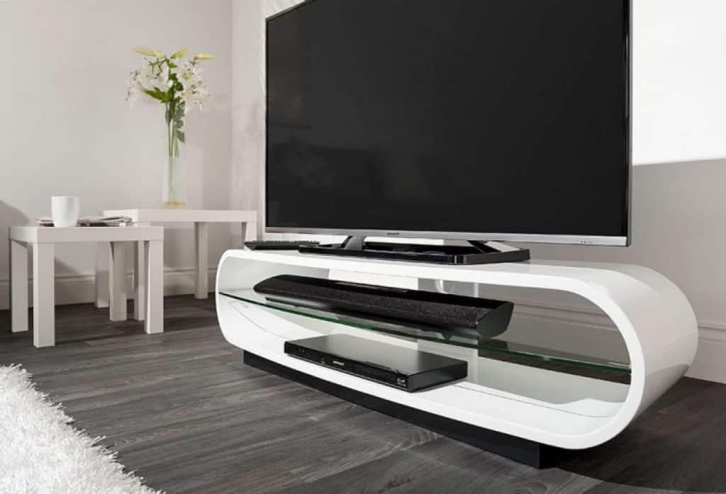 Stylish Tv Stands In Favorite Contemporary Tv Stand In White Color – Useful And Stylish Tv Stand (View 9 of 20)