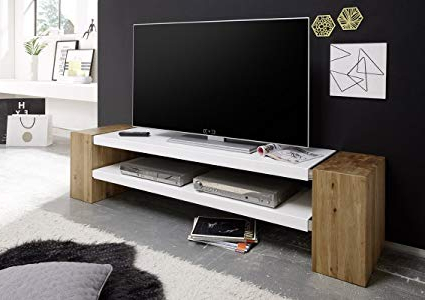 Stylish Tv Stands With Most Up To Date Amazon: Jane Tv Stand – Large Tv Table From Oiled Solid Oak (View 14 of 20)