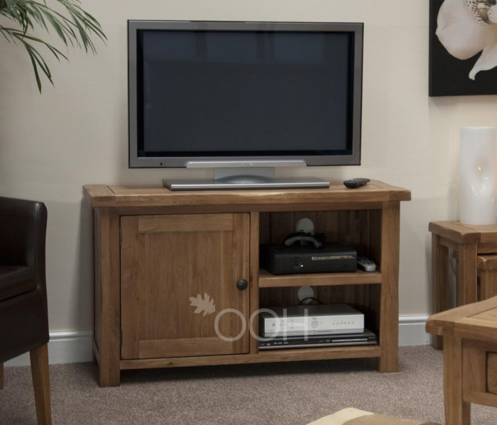 Suffolk Oak Tv Unit Regarding Most Recently Released Oak Tv Cabinets With Doors (View 8 of 20)