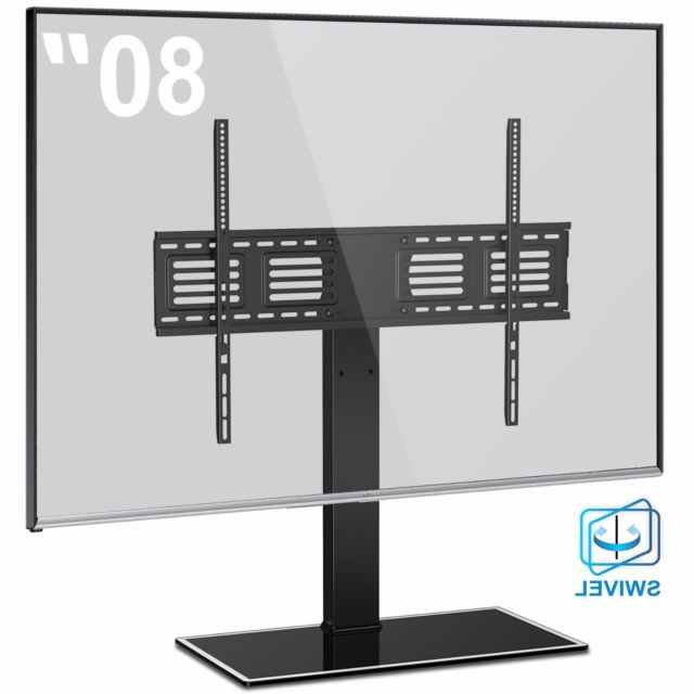Swivel Tv Riser Inside Current Fitueyes Table Pedestal Tv Stand Swivel Mount For 50 55 60 65 70  (View 16 of 20)