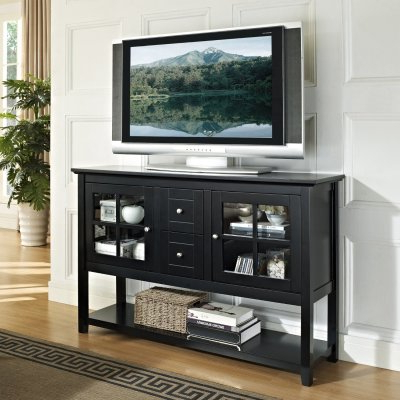 Tall Black Tv Cabinets With Newest Tall Tv Cabinet: 7 Beautiful Tall Tv Stands – Tv Stands Central (View 4 of 20)