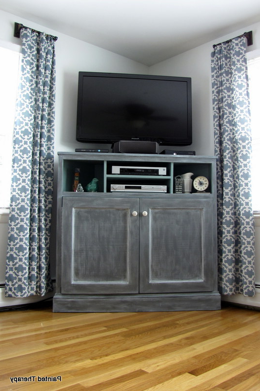 Tall Corner Media Console – Diy Projects Regarding Most Up To Date Corner Unit Tv Stands (Gallery 13 of 20)