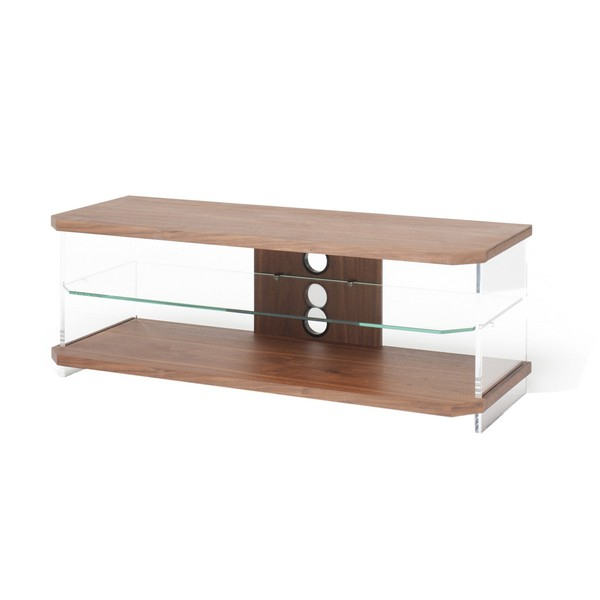 Techlink Air Ai110w Walnut And Glass Tv Unit Walnut – Tv Stands – Tv Within Well Liked Techlink Air Tv Stands (View 7 of 20)
