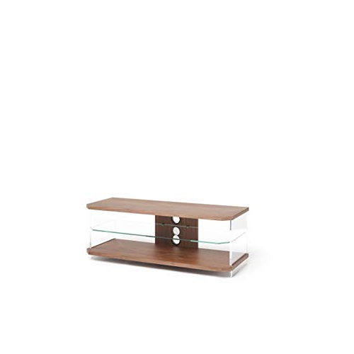 Techlink Air Tv Stands Pertaining To 2018 Walnut Finish Tv Stand: Amazon.co.uk (Gallery 17 of 20)