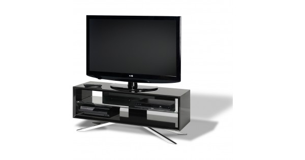 Techlink Arena Tv Stands Regarding Best And Newest Chrome Plated Pyramidal Base; Cable Management And Power Strip (View 15 of 20)