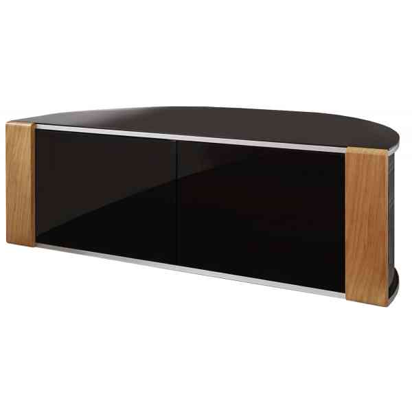 Techlink Bench Piano Black Corner Tv Stand With Glass Doors With Regard To Well Known Techlink Bench Corner Tv Stands (View 19 of 20)