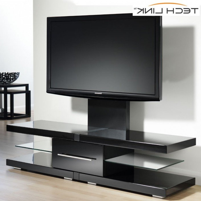 Techlink Echo Ec130Tvb Tv Stands Regarding Well Known Techlink Ec130Tvb Echo Tv Piano Gloss Black Cantilever Tv Stand (405709) (Gallery 2 of 20)