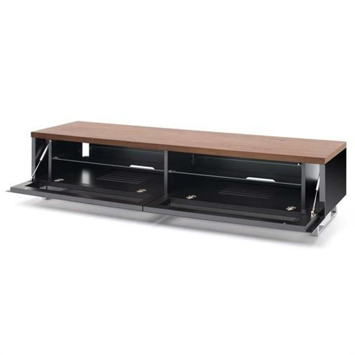 "Techlink Panorama Series Low 65"" Tv Stand With Drop Down Door And Within Famous Techlink Panorama Walnut Tv Stands (View 12 of 20)"