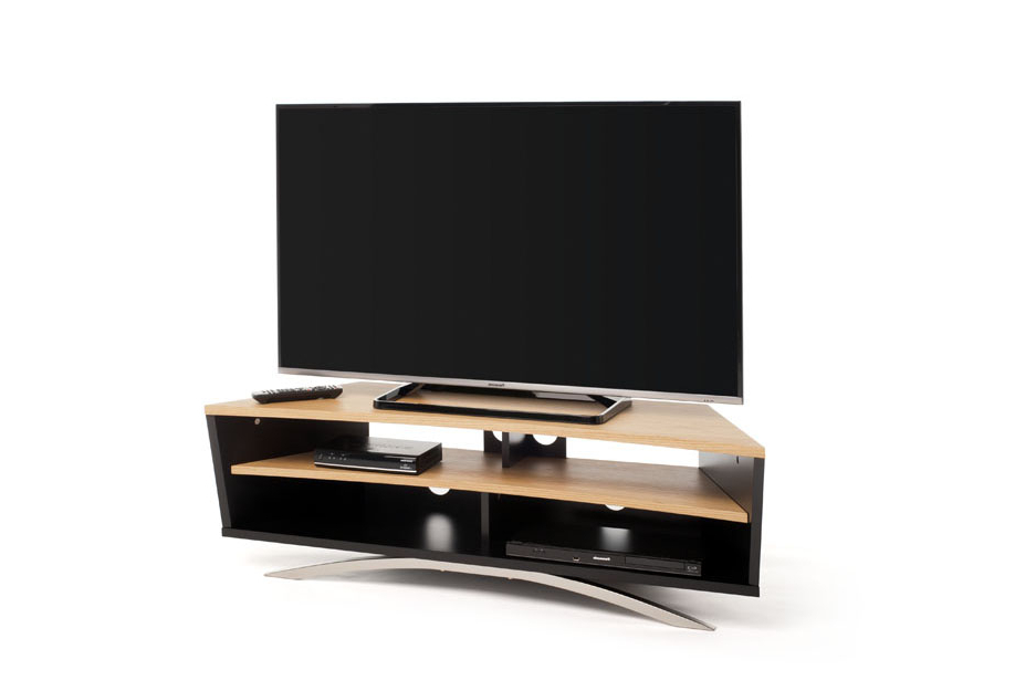 Techlink Tv Stands Inside Famous Powercity – Pr130Sbw Techlink Black With Walnut Tv Stand Tv Stands (View 14 of 20)