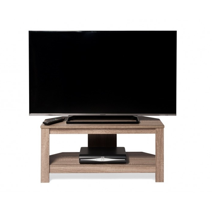 """Techlink Tv Stands Sale For Best And Newest Tech Link 1150Mm Wooden Tv Stand For Up To 55"""" Screen Tv – Sawn Oak (View 16 of 20)"""