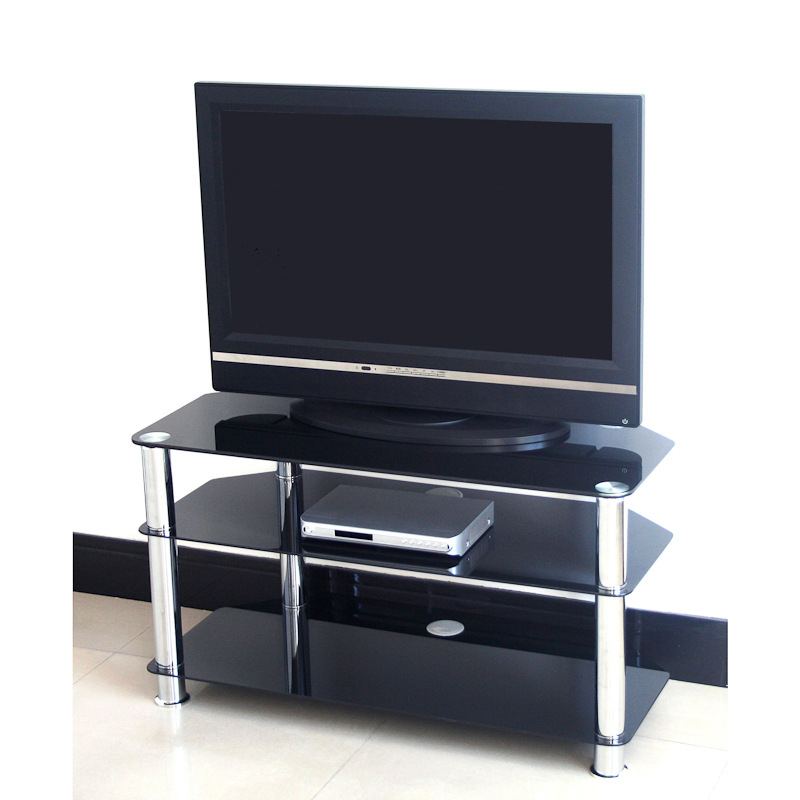 Telly Tv Stands In Famous Glass Tv Stand – Odorokikarakon (View 4 of 20)