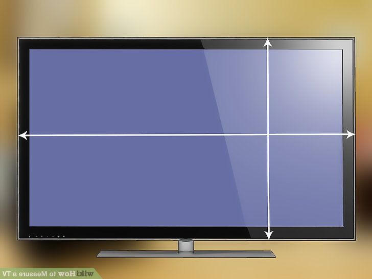 Telly Tv Stands Intended For Most Current How To Measure A Tv: 7 Steps (With Pictures) – Wikihow (Gallery 14 of 20)