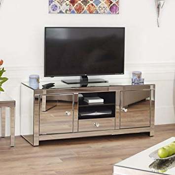 The Furniture Market Venetian Mirrored Widescreen Tv Unit: Amazon (View 16 of 20)