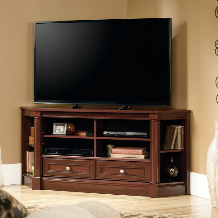 "Three Posts Orviston Corner Tv Stand For Tvs Up To 60"" & Reviews With Regard To Most Recent Corner Tv Stands (Gallery 14 of 20)"