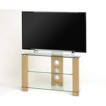 Tnw Vision 800 Oak And Clear Glass Tv Stand: Amazon.co (View 16 of 20)