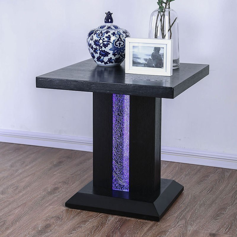Tobias End Table W/ Led Lightsfurniture Of America (View 7 of 20)