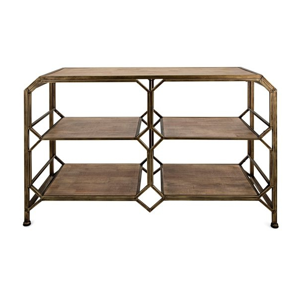 Tobias Media Console Tables For Most Current Shop Tobias Antique Brass Console Shelf – On Sale – Free Shipping (View 15 of 20)