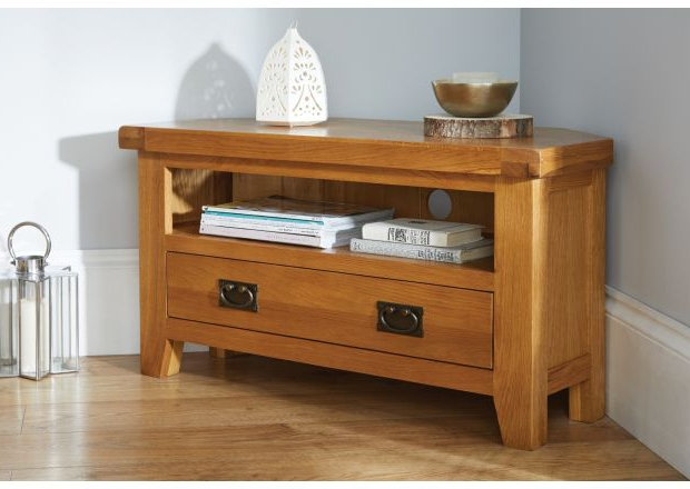 Top Furniture With Regard To Newest Oak Corner Tv Stands (Gallery 19 of 20)