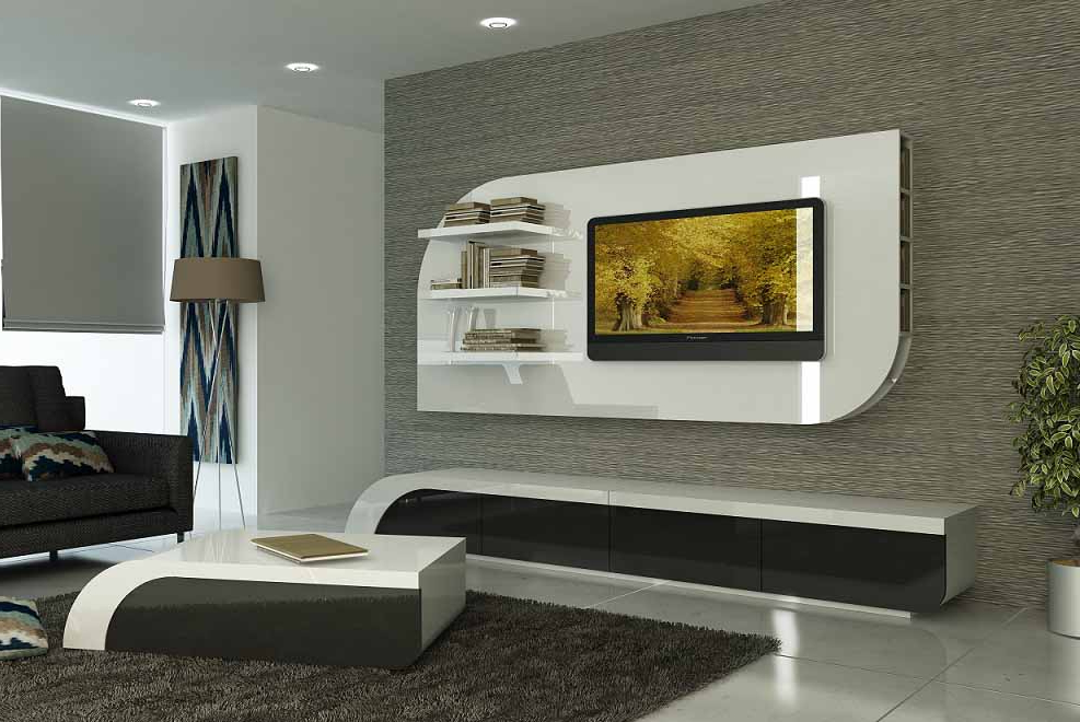 Top Modern Tv Cabinets Designs Living Room Wall Units Flat Screen Intended For Newest Modern Tv Cabinets Designs (View 15 of 20)