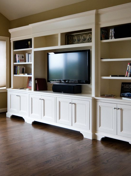 Traditional Family Room Media Cabinet Design, Pictures, Remodel Within Most Recent Traditional Tv Cabinets (View 5 of 20)