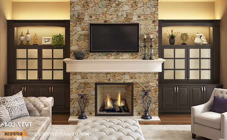 Traditional Tv Cabinets Intended For Most Recently Released Living Design Ideas,fireplace With Traditional Built In Tv Cabinet (View 16 of 20)
