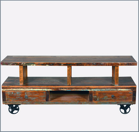 Trendy 35 Supurb Reclaimed Wood Tv Stands & Media Consoles Inside Wooden Tv Stand With Wheels (Gallery 15 of 20)