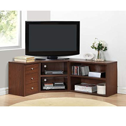 Trendy Amazon: Corner Tv Stands For Flat Screens Oak Finish With Within Cheap Corner Tv Stands For Flat Screen (View 3 of 20)