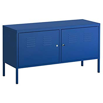 Trendy Amazon: Ikea Blue Cabinet Tv Stand Multi Use Lockable: Kitchen With Regard To Lockable Tv Stands (View 18 of 20)