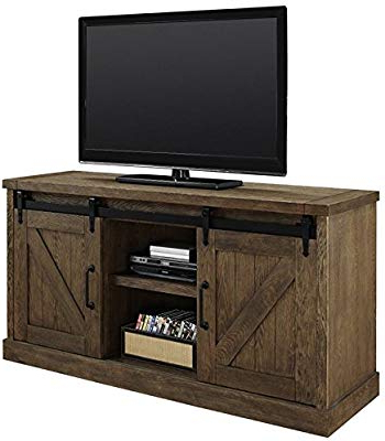 """Trendy Amazon: Walker Edison 53"""" Wood Tv Stand Console With Storage Regarding Wooden Tv Stands For Flat Screens (View 10 of 20)"""