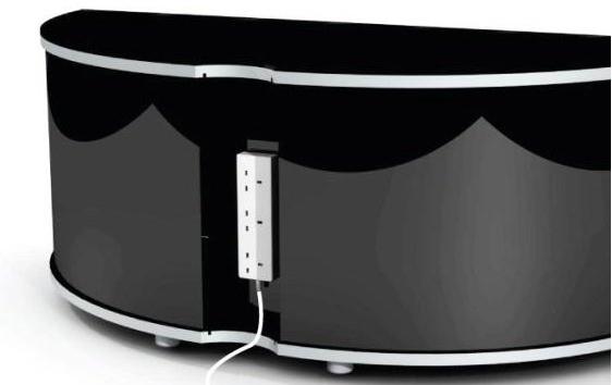 Trendy Black High Gloss Corner Tv Unit Pertaining To Sirius 1200 Black And Oak Corner Tv Cabinet (Gallery 6 of 20)