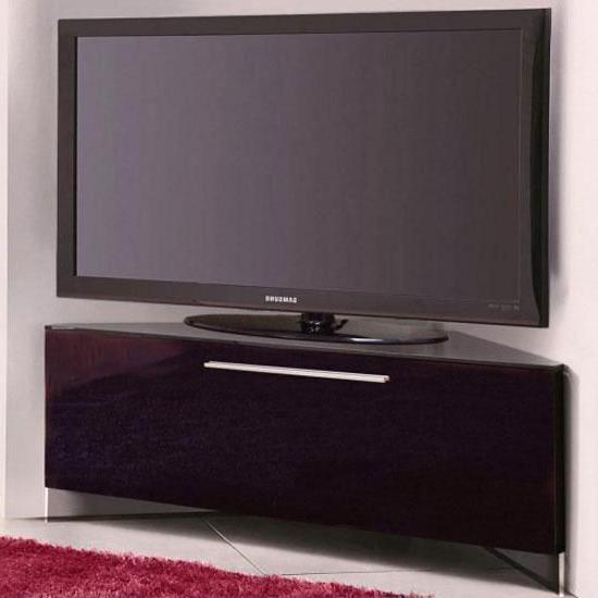 Trendy Black High Gloss Corner Tv Unit (View 17 of 20)