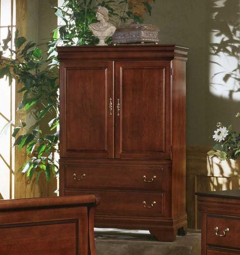 Trendy Cherry Tv Armoire With Louis Armoire/ent (View 5 of 20)